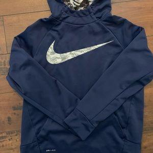 Boys Nike dri fit hooded sweatshirt